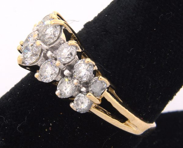 Incredible Dazzling 1.70CTW Diamond Band Ring, 14KT